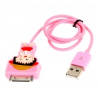Cute Sakura Momoko Figure USB Charging/Data Cable for iPhone 3G/3GS/4/iPod Touch/Nano (43cm-Length)