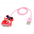Cute Super Mario Figure USB Charging/Data Cable for iPhone 3G/3GS/4/iPod Touch/Nano (43cm-Length)
