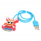 One Piece Skull Pattern USB Charging/Data Cable for iPhone 3G/3GS/4/iPod Touch/Nano (43cm-Length)