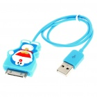 Cute Doraemon Figure USB Charging/Data Cable for iPhone 3G/3GS/4/iPod Touch/Nano (43cm-Length)