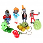 Buy Cute Plants vs Zombies Figure PVC Toys Dolls Keychains (8-Figure Set/Random Style)