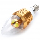 Candle Style E14 4W 250-Lumen White 4-LED Light Bulb (110~250V)