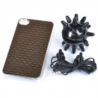 Fashion Protective Back Case + 3.5mm Earphone + Funny Cable Winder Set for Iphone 4