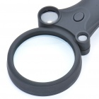 Compact 2.5X/25X/55X Magnifier with White LED & UV Currency Detector (4 x AG10)