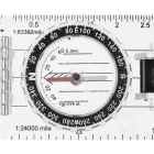 Translucent Map Compass and Distance Measurement Tool