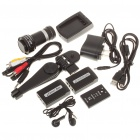 5.0MP CMOS Digital Video Camcorder w/ 8X Digital Zoom/HDMI/AV-Out/SD - Black + Silver (2.5&quot; LCD)