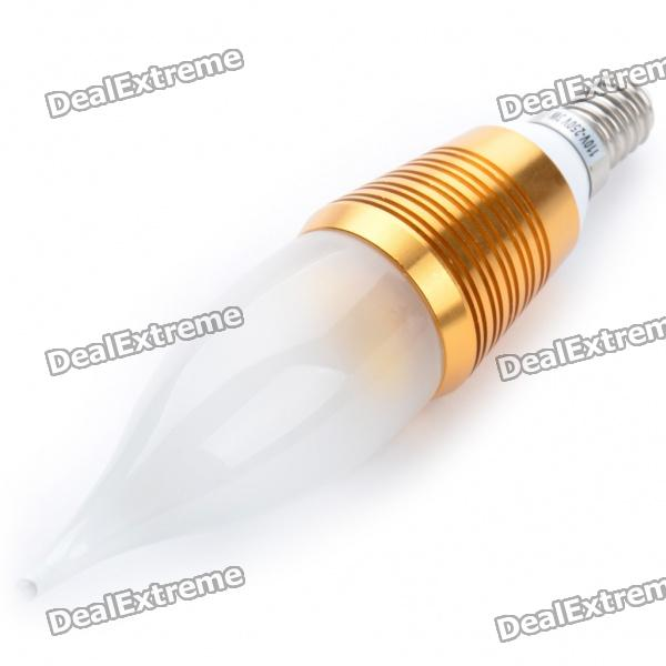 E14 3W 190lm Warm White Light 3-LED Candle Style Bulb (110~250V)