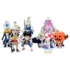 Set of 8 One Piece Figure Toy Keychain (Assorted Style)