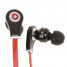 Designer's Cool In-Ear Stereo Earphone - Red + Black (3.5mm Jack/125cm-Cable)