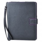 2-in-1 Protective PU Leather Case + Movie Stand with Strap for Ipad 2