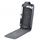 Protective PU Leather Cover Plastic Case for HTC Desire S