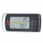 "1.5"" LCD Digital Pedometer w/ Body Fat Analyzer - Black + Silver (1 x CR2032)"