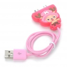 Cute Cartoon Figure USB Charging/Data Cable for iPhone 3G/3GS/4/iPod Touch/Nano (43cm-Length)
