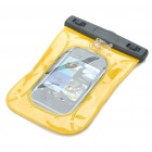 Waterproof Bag Case with Strap for Cell Phone/MP3/MP4 - Yellow