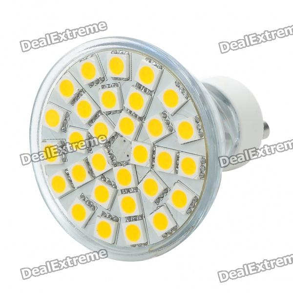GU10 5.5W 3500K 360-Lumen 30x5050 SMD LED Warm White Light Bulb (AC 85~265V) r7s 15w 5050 smd led white light spotlight project lamp ac 85 265v