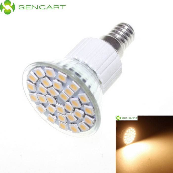 E14 5.5W 3500K 360-Lumen 30x5050 SMD LED Warm White Light Bulb (AC 85~265V) r7s 15w 5050 smd led white light spotlight project lamp ac 85 265v