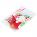 Cute Santa Claus Pattern Card Style USB Flash Drive - White (2 GB)