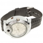 2-in-1 Water Resistant Quartz Wristwatch w/ Lighter - Silver (1*SR626)
