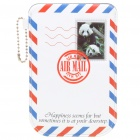 Panda Stamped AIR MAIL Envelope Style Protective Case Pouch for iPhone 4