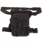 Military Tactical War Game Multi-Purpose Shoulder Bag/Leg Bag - Black