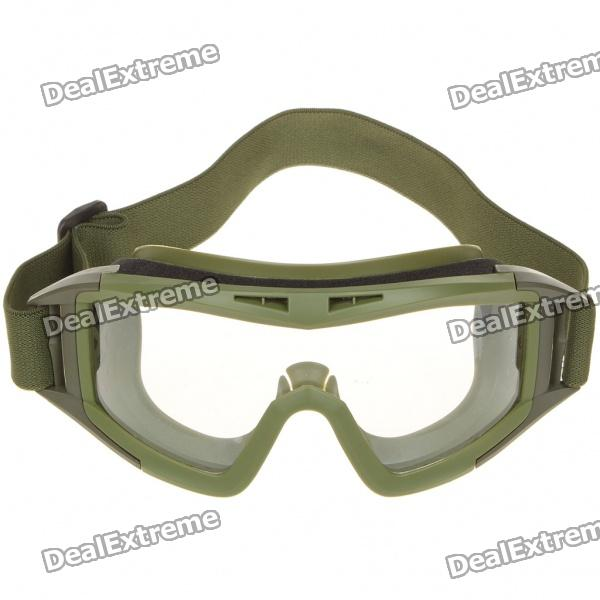 Tactical Outdoor War Game UV400 Protection Desert Locust Goggles - Green