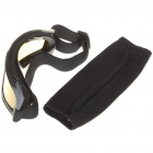 Tactical Utomhus War Game UV400 Protection Desert Locust Goggles - Black + Gul