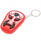 Chinese Opera Mask Style Universal TV Remote Controller with Keychain - Red (2xLR44)