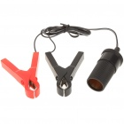 Alligator Clip/Battery Clamp to Car Cigarette Lighter Socket Adaptor (12V)