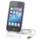 3-in-1 Protective Case + Charging Dock Station + USB Charging/Data Cable Set for iPhone 4
