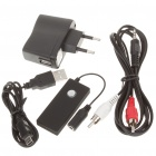 Rechargeable Bluetooth V2.1 Audio Receiver with 3.5mm Female Jack - Black