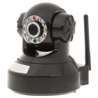 H.264 300KP Wireless Network Security Surveillance IP Camera w/ 10-LED IR Night Vision/TF - Black