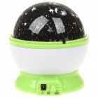 USB/4xAAA Batteries Powered Doraemon Style Rotating Moon & Star Projector Night Light - Random Color