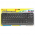 MC Saite Portable 2.4GHz Wireless 78-Keys Multimedia Keyboard with Touch Pad - Black (2xAAA)