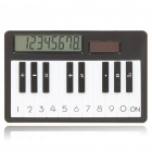 "Battery/Solar Powered 2.7"" LCD Mini Piano Style Calculator - Black + White (1xAG10)"