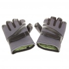 Stylish Full Finger Warm Gloves - Grey + Black (XXL/Pair)