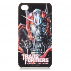 Transformers 3 Sentinel Prime Pattern Protective Case w/ Screen Film + Anti-Dust Plug for iPhone 4