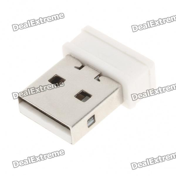 Ultra-Mini Nano USB 2.0 150Mbps 802.11b/g/n Wifi/WLAN Wireless Network Adapter - White