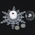 Christmas Snowflake Style Colorful Flashing Light with Suction Cup (1xCR2032)