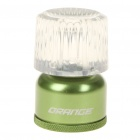 Mini Compact Camping Water Resistant 45-Lumen White LED Light - Green (2xCR2032)