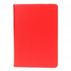 Protective Mat Pattern PU Leather Case for Samsung P7510 - Red