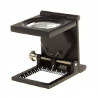 8X Folding Magnifier with Scale & White 2-LED Light - Black (2xLR927)