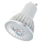 GU10 3W 240-280LM 6500K White 3-LED Light Bulbs (85~265V)