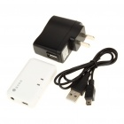 Rechargeable Bluetooth V2.0 Audio Receiver with Mini USB/3.5mm Jack - White