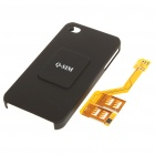 Triple SIM Cards Adapter with Protective Back Case for iPhone 4