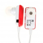 Dual Channel Bluetooth V2.1 Stereo Headset w/ Microphone - Red (5-Hour Talk/180-Hour Standby)