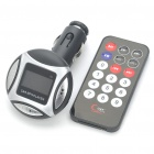 "1.0 ""LCD Car MP3 Music Speaker Transmissor FM com USB / SD / TF Slot / Controle Remoto - Prata + Preto"