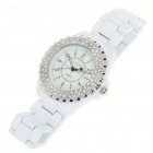 Fashion Water Resistant Quartz Wrist Watch with Imitation Diamond (1x626)