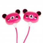 Cute Bear-Art-Kopfhörer für mp3/mp4/cell Phone - Deep Pink (3,5 mm Klinke)