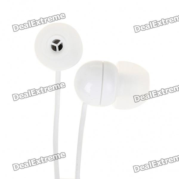 Stylish In-Ear Earphone for MP3/MP4/Cell Phone - White (3.5MM Jack)