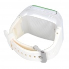 "1.3"" Touch Screen Wrist Watch Style Dual SIM Quadband GSM Cell Phone w/ Camera - White + Green"